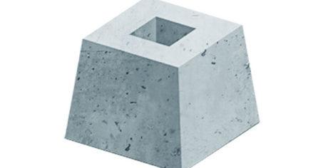 Железобетонный фундамент для установки промежуточных одиночных опор
